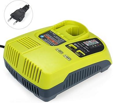 KKmoon Bater/ía de Reemplazo para el Cargador de Ryobi 12V-18,Bater/ía de Litio,Puertos Duales
