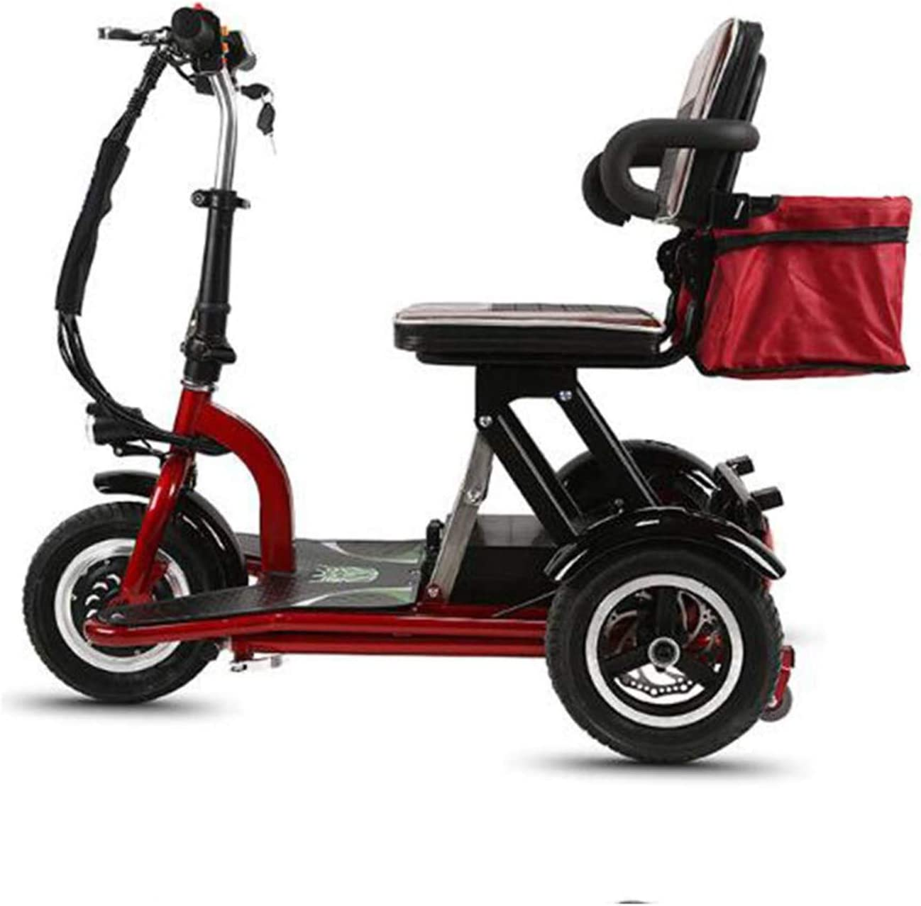 SZ-DDC 3 Ruedas Movilidad Scooter eléctrico Plegable Vespa roja