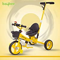 Baybee Breeze 2 in 1 Kids Tricycle Convertible Baby Tricycle Kid's Trike with Parental Adjust Push Handle Children with Seat Belt Kid's Ride Outdoor | Suitable for Boys & Girls