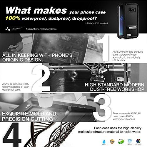 Samsung Galaxy S8 Case,ASAKUKI Full Body Case With Screen Protector,Waterproof IP68 Shockproof Snowproof Dustproof for Samsung Galaxy S8