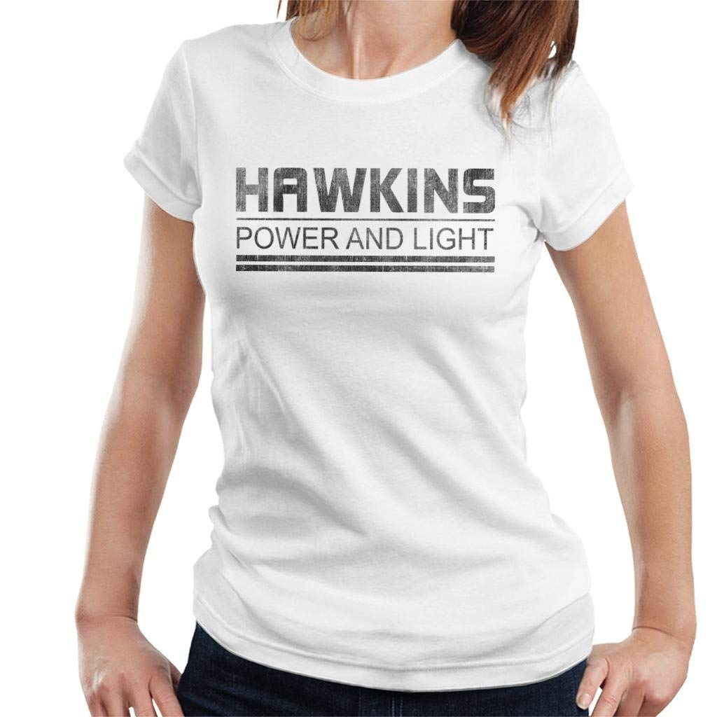 Hawkins Power And Light Stranger Things Women's Shirts