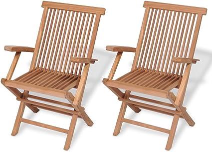 Amazon.com: Festnight Juego de 2 sillas de comedor plegables ...
