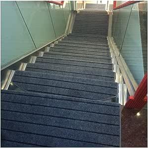 LVAB Pisada De Escalera - Alfombras Cuadrado Hexagonal Alfombrilla Patrón Clásico Europeo Estera De La Escalera Set De 10 Piezas De Madera Hebilla Mágica Almohadilla De Protección De La Escalera: Amazon.es: Hogar