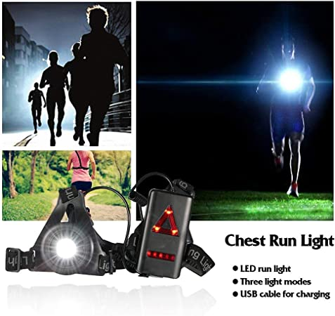 Docooler Luz LED para el Pecho Recargable Linterna de ...