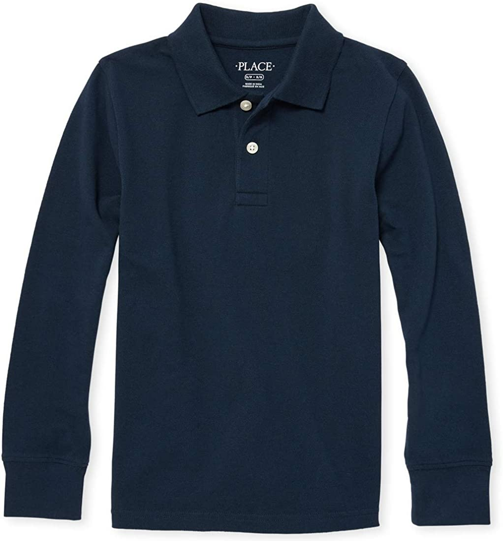 Small//5//6 The Childrens Place Boys Little Long Sleeve Uniform Polo Brook