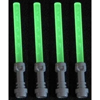 Lego Lightsaber Lot of 4: Glow-in-the-Dark Lightsabers with Hilts: Toys & Games [5Bkhe1401628]