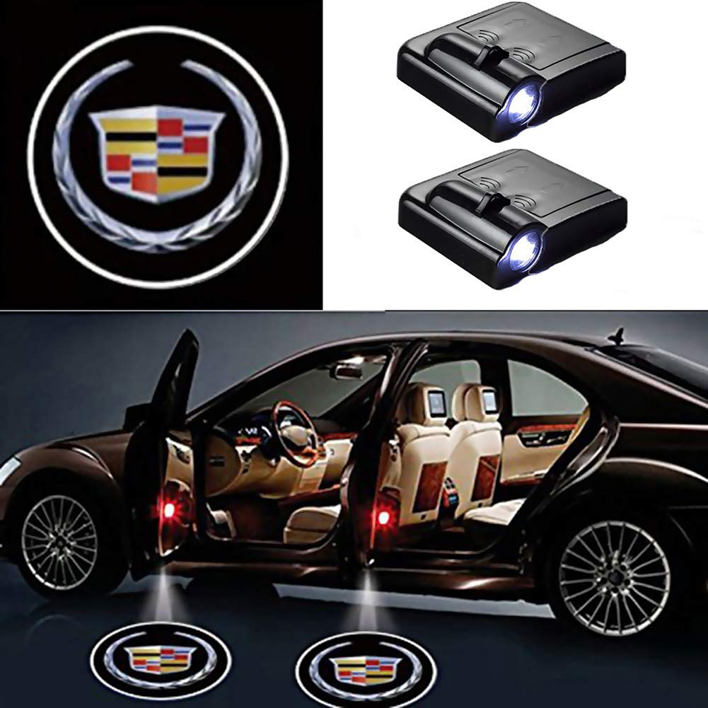 Car Logo Ghost Shadow Emblems Wireless Door Sensor Lights No Drill Type Led Laser Door Shadow Light Welcome Projector Lamp 2 pcs for Jeep