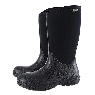 KWNOEA Men's Waterproof Insulated Rubber Neoprene Outdoor Boots,Winter Warm Snow Boots: Shoes