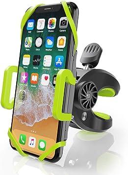 Handyhalterung f/ür Fahrr/äder bis zu 7 Zoll Handys Universal f/ür iPhone X 8 7 6S Samsung Galaxy S9 S8 Anti-Shake und rutschfeste 360/° Drehbare Silikon-Smartphonhalterung Fahrrad Handy Halterung