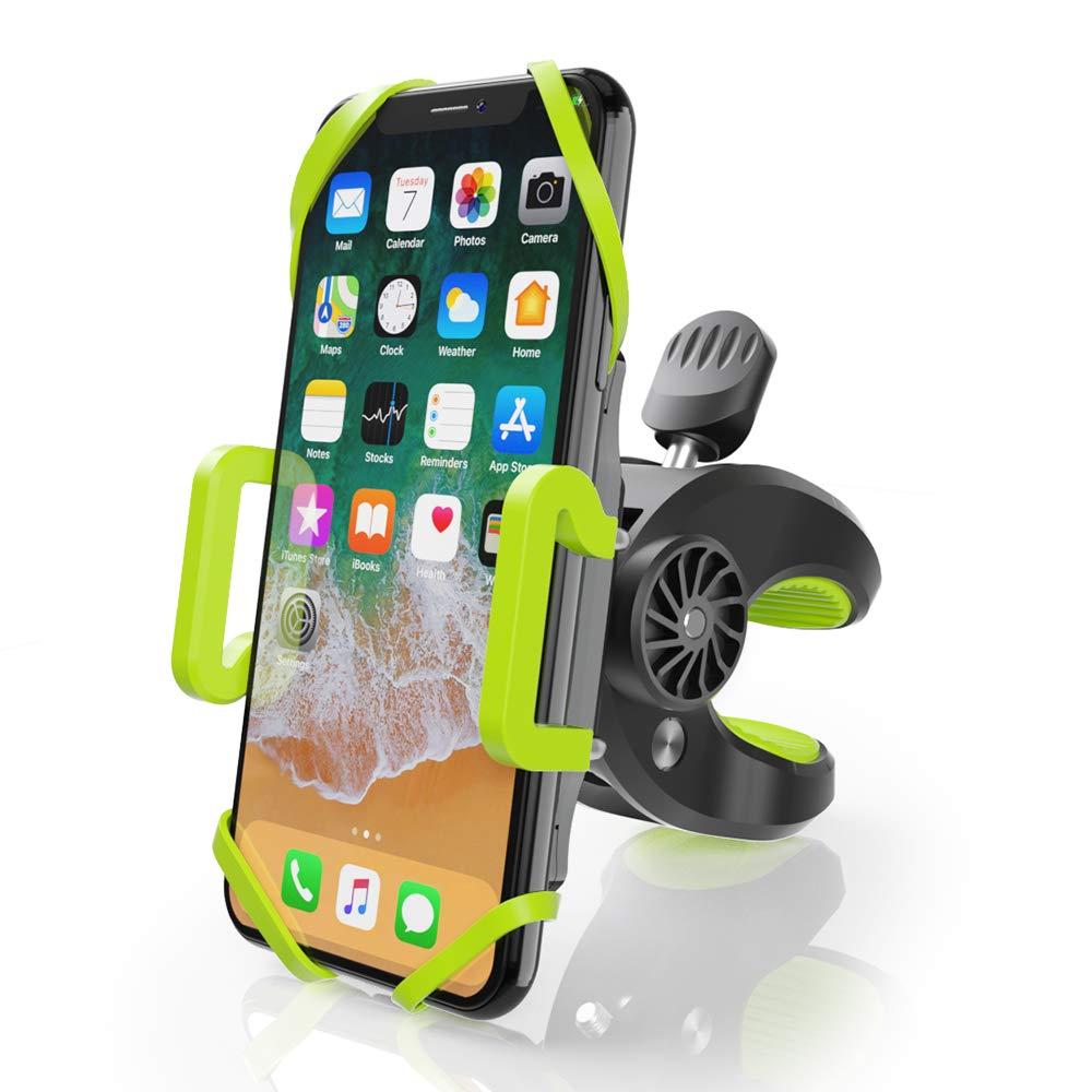 ZeaLife Fahrrad Handyhalterung Universal Motorrad Halterung 360/° Drehbarer Handy Halterung f/ür 4-6.5 Zoll Smartphone Fahrrad Handyhalter Ideal f/ür Mountainbike Rennrad /& Motorrad Gr/ün//Schwarz