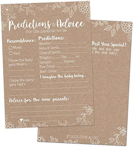 Rustic Shower Prediction Advice Cards product image