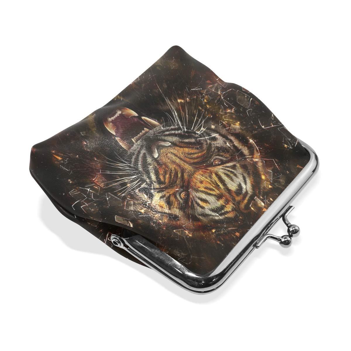 Amazon.com: AJINGA - Monedero de piel de calabaza abstracto ...