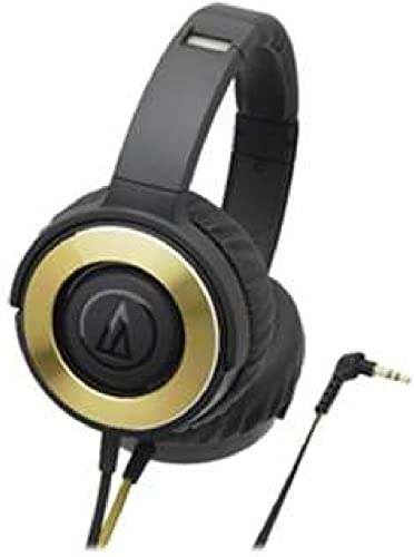 audio-technica SOLID BASS Portable Headphone Black Gold ATH-WS550 BGD
