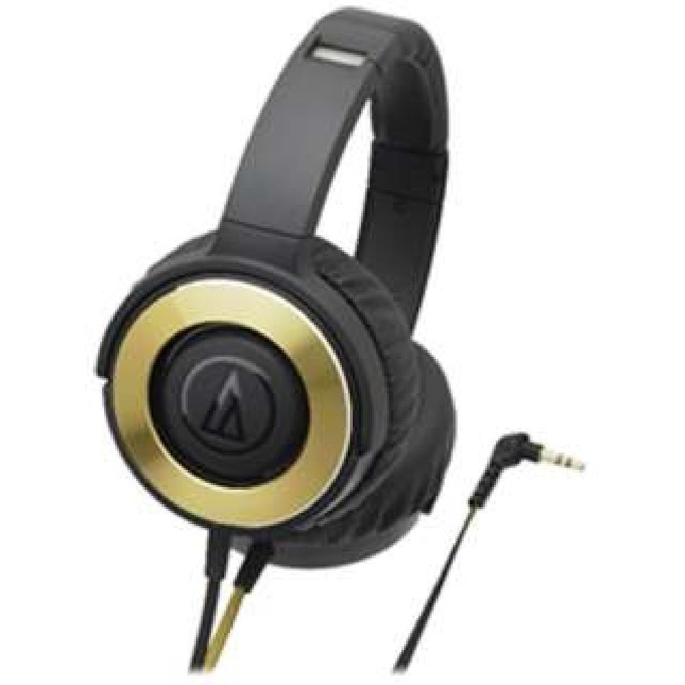 audio-technica SOLID BASS Portable Headphone Black Gold ATH-WS550 BGD