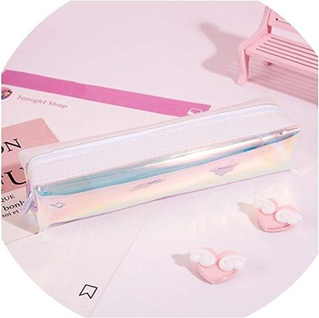1 estuche transparente para lápices, gran capacidad, bolsa de regalo para niños, bolsa de almacenamiento para brochas de maquillaje Kawaii: Amazon.es: Juguetes y juegos