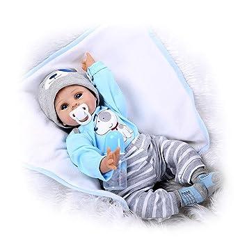 TINGSHOP Lifelike Boy - Toy Realista Muñecas Reborn 22 ...