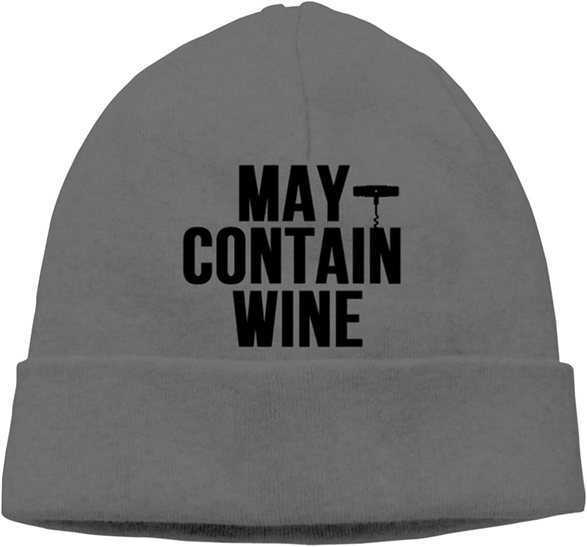 FOECBIR May Contain Wine Thin Beanie Cap Skull Caps Men/&Women Slouchy Soft