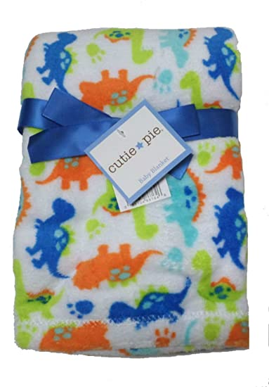 4f2f2f304a Amazon.com  Cutie Pie Dinosaur Print Velboa Plush Blanket (Blue)  Baby