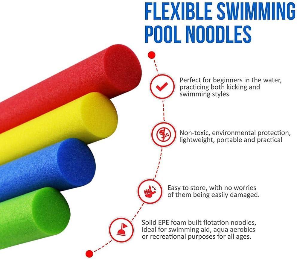 150 Cm. Kitabetty Piscina Noodle Bastone da Nuoto Colore Galleggiabilit/à Stick in Schiuma Solida Bastone per Bambini Adulti