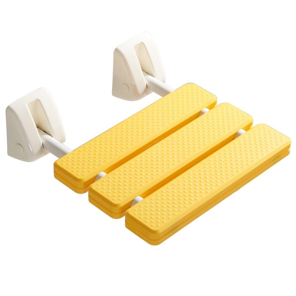 LXN 折り畳み式シャワーチェア - 高齢者、妊婦、障害者に適用 (色 : イエロー いえろ゜) B07DMC7YTY イエロー いえろ゜ イエロー いえろ゜