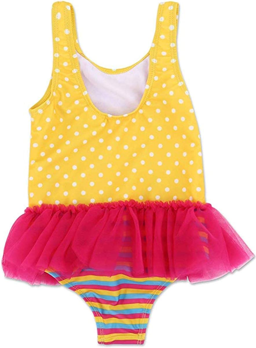 Dreamwave Fancy Nancy Toddler Girl One Piece Swimsuit UPF 50 Yellow