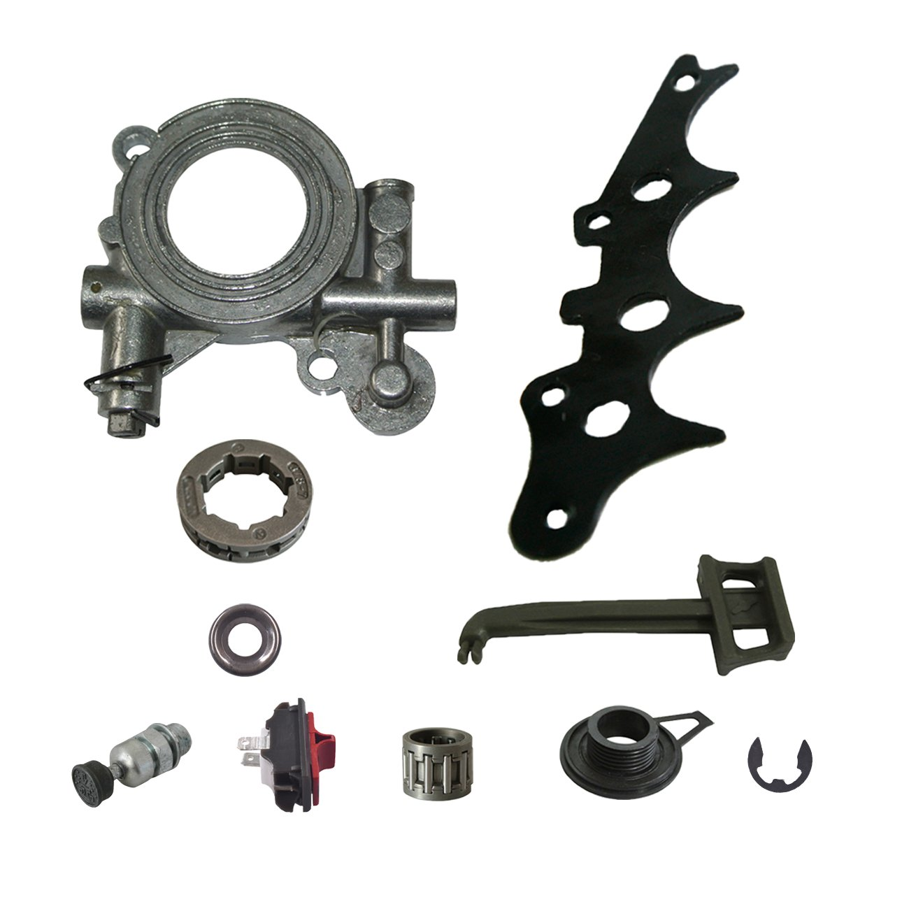 Ruichang oil Pump Oiler set per Husqvarna 390 385 372 x P 372 371 365 362 motosega RuichangTools&Parts