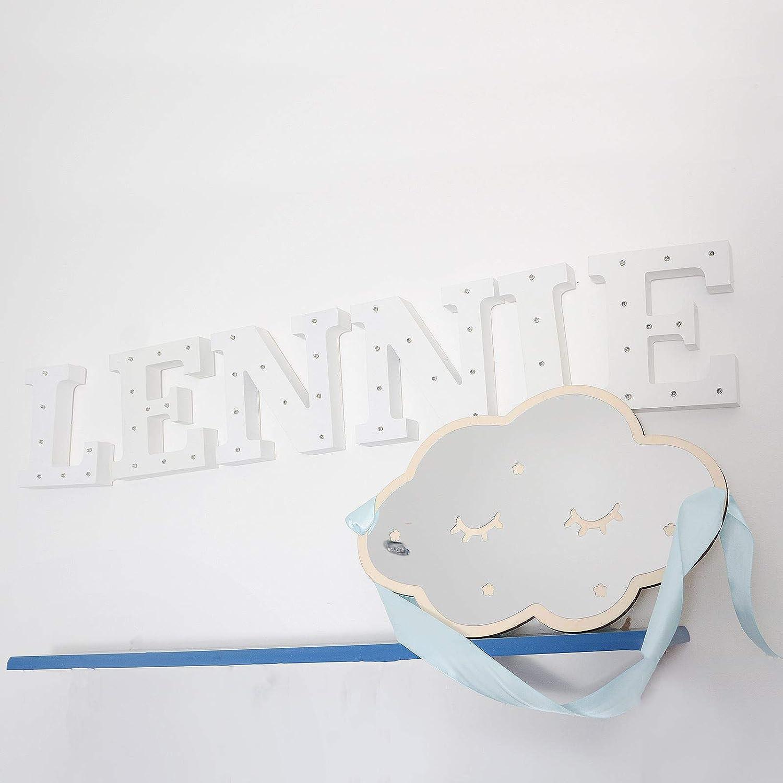 Nuage Miroir Mural Acrylique incassable en Bois Moderne avec la d/écalcomanie dart de d/écoration /à la Maison pour la pi/èce de b/éb/é et denfants ice cream whats your flavour