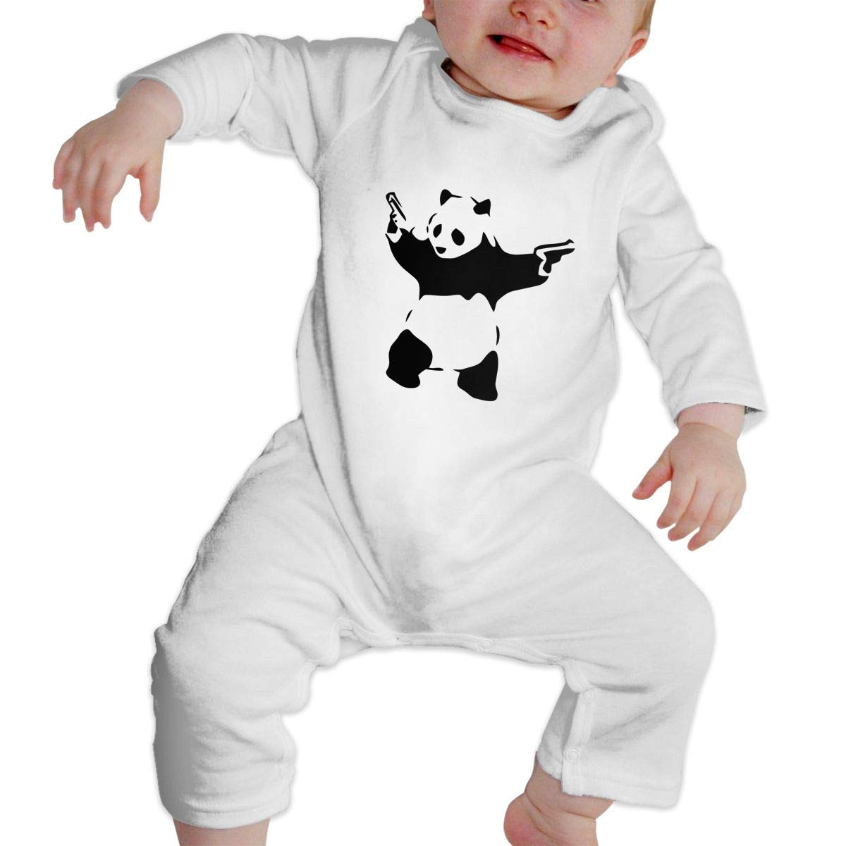KAYERDELLE Banksy Panda Long Sleeve Unisex Baby Bodysuits for 6-24 Months Toddler