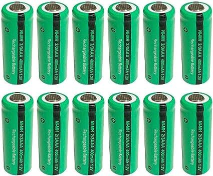 batería teléfono fijo inalámbrico pilas 1,2 V 400 mAh 2/3AAA Batería 12 unidades: Amazon.es: Electrónica
