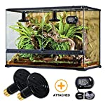 OMAYKEY 100W 2 Pack Ceramic Heat Lamp with 1-pcs Digital-Thermometer, Infrared Reptile Heat Emitter Heater Lamp Bulb for Pet Brooder Coop Chicken Lizard Turtle Snake Aquarium, No Light No Harm 8