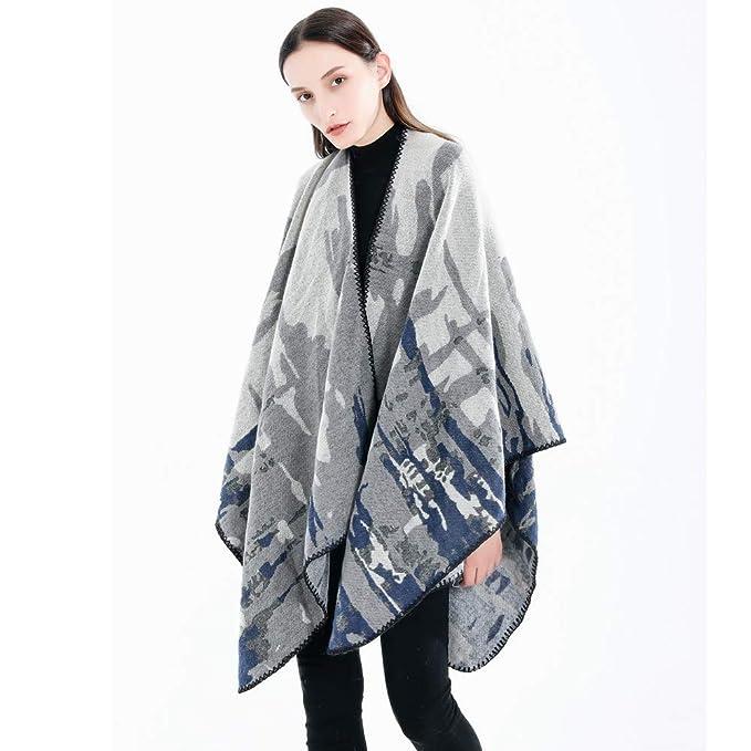 Linlink Moda Mujer Manta Camuflaje patrón Abrigo Chal Acogedor mantón: Amazon.es: Ropa y accesorios
