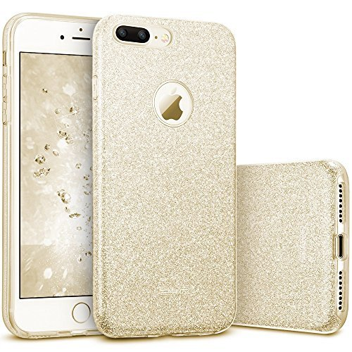 """ESR iPhone 7 Plus Case,Glitter Sparkle Bling Case [Three Layer] for Girls Women [Shock-Absorption] for 5.5"""" iPhone 7 Plus(2016 Release)(Champagne)"""