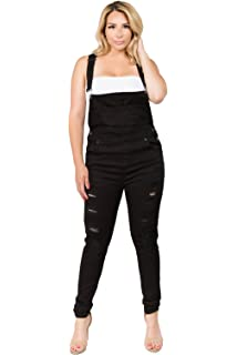 468024297731 TwiinSisters Women s Plus Size Natural Curve Enhancing Slim Fitted Overalls  with Comfort Stretch