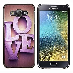 - Love romantic Heart - - Cubierta del caso de impacto con el patr??n Art Designs FOR Samsung Galaxy E5 E500 Queen Pattern