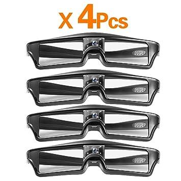 Gafas 3D Profesional Universal para Obturador Las Gafas Activas 3D ...