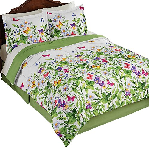 Botanical Butterflies Medium weight Comforter Bedskirt