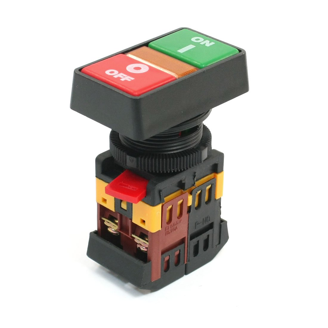 Momentary On Off Start Stop Flush Mounted Pushbutton Switch AC600V 10A Sourcingmap a13112600ux0157