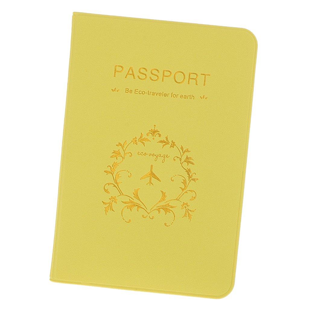 Generic Noir Porte-Passeport Faux Cuir Voyage D/étenteur dun Passeport Portefeuille /Étui Prot/ège Passeport par SamGreatWorld