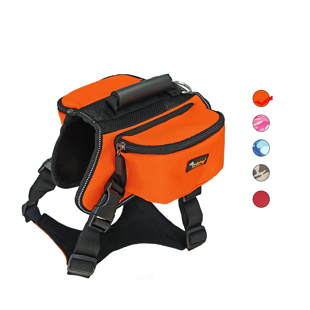 Dog Carrier Backpack Airline Approved High-Capacity Lightweight Shoulder Bag Hound Camping Travel Outdoor Hiking Pack Portable Adjustable Reflective Webbing Carriers for Large Medium Small Saddle Dog
