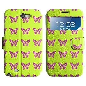 LEOCASE mariposas bonitas Funda Carcasa Cuero Tapa Case Para Samsung Galaxy Note 2 N7100 No.1005023