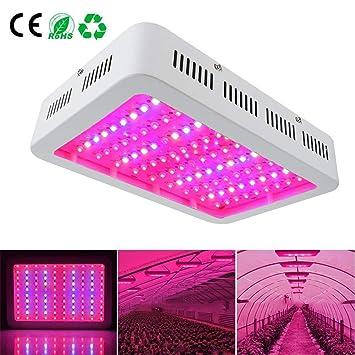 LED Cultivo 1000W Lampara Cultivo Talla Grande Focos Cultivoluces LED Grow con La Luz UV del