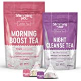 Detox Tea for Weight Loss and Belly Fat, 14 Day Teatox Herbal Slim Tea for Body Detox, Colon Cleanse, Metabolism Increase - L