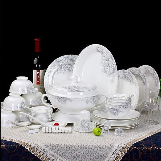 YLee Juego De Vajilla De Porcelana China - 44 Piezas De Vajilla De ...
