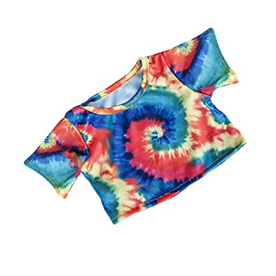 "Tie Dye T-Shirt Fits Most 8""-10"" Webkinz, Shining Star and 8""-10"" Make Your Own Stuffed Animals and Build-A-Bear: Toys & Games"