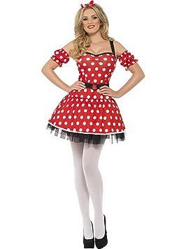 Halloweenia - Disfraz de ratón para Mujer con Vestido, puños y ...