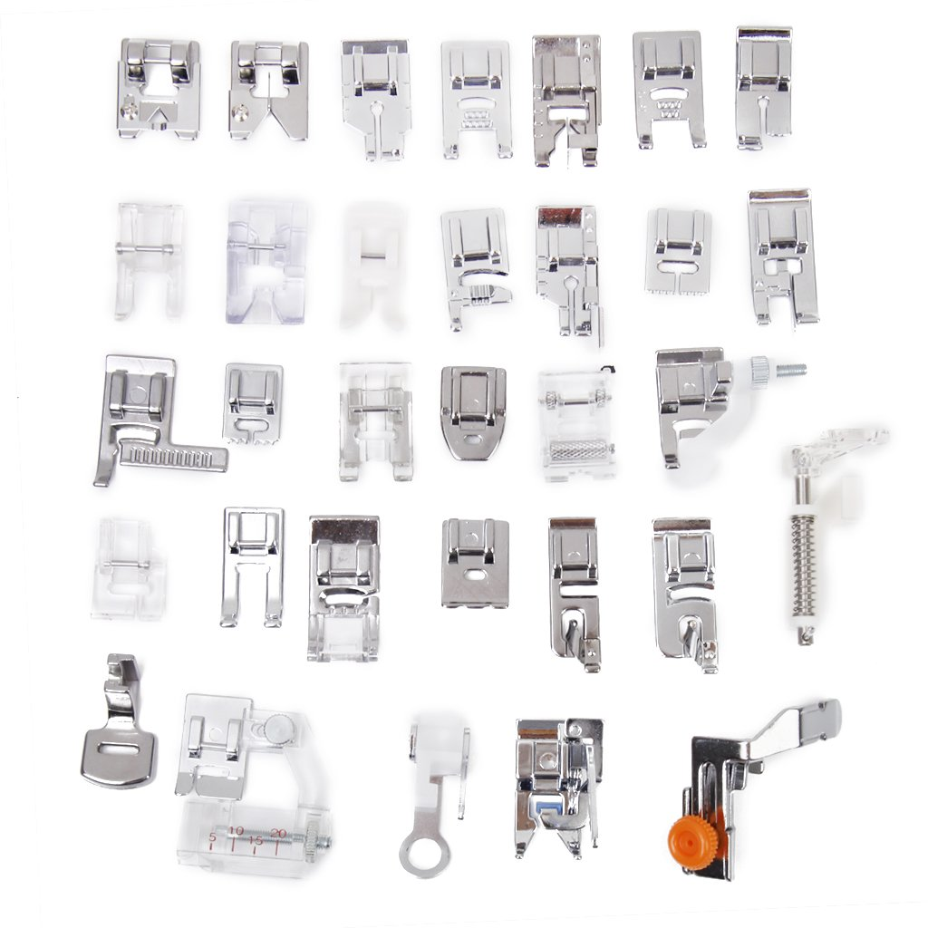 Amazon.com: MagiDeal 32 Pieces Household Sewing Machine Presser Feet Set for Domestic Sewing Machine