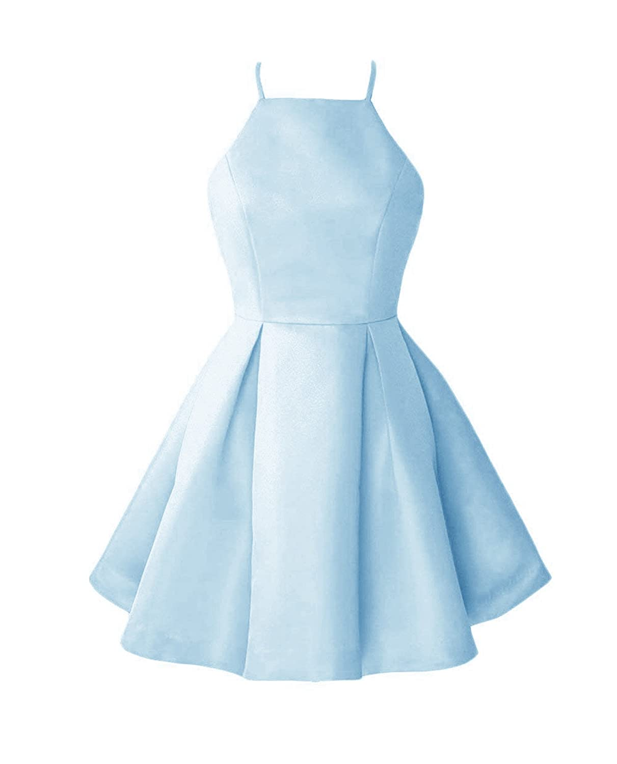 Bbaby bluee WHZZ Womens ALine Homecoming Dresses Mini Short Cocktail Party Dresses