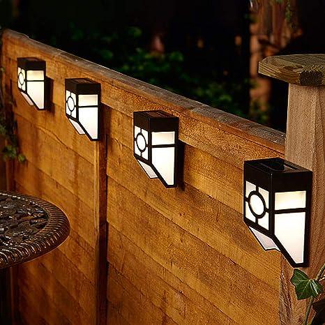 CUQOO - Lote de 8 luces solares de pared al aire libre, luz solar led impermeable para cubierta, ...