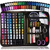 Sewing KIT, Over 110 Quality Sewing Supplies, 48 Spools of Thread, XL Sewing kit for DIY, Beginners, Emergency, Kids, Summer Campers, Travel and Home