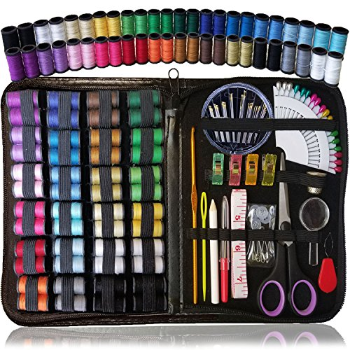 Sewing KIT, Over 110 Quality Sewing Supplies, 48 Spools of Thread, XL Sewing kit for DIY, Beginners, Emergency, Kids, Summer Campers, Travel and Home by ARTIKA